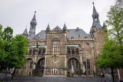 Das gotische Aachen Rathaus, Deutschland Stockfoto