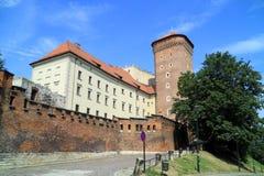 Das gotische Wawel Schloss in Krakau in Polen Lizenzfreie Stockfotos