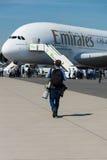 Das größte Passagierpassagierflugzeug in der Welt Airbus A380 Stockbild