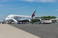 Das größte Passagierpassagierflugzeug in der Welt Airbus A380 Lizenzfreies Stockbild