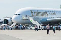 Das größte Passagierpassagierflugzeug in der Welt Airbus A380 Lizenzfreie Stockfotografie