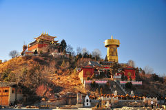 Das größte tibetanische Gebet drehen herein die Welt, an Guishan-Park lizenzfreies stockbild
