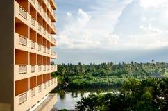 Das Grün der Hotelansicht in Thailand Stockfotos