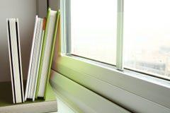 Das grüne Abdeckungsbuch Stockfoto