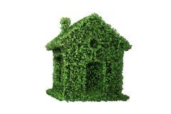 Das grüne Energiehauskonzept - Wiedergabe 3d Stockbilder