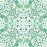 Das grüne Muster von Mandalen Stockfotografie