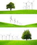 Das grünende der Industrie Stockfoto