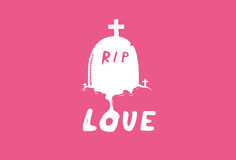 Das Grab der Liebe Lizenzfreies Stockbild