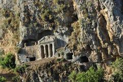 Das Grab von Bellerophon bei Tlos, die Türkei Lizenzfreie Stockfotografie