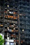 Das Grenfell-Turm-Feuer Stockbild
