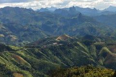 Das großartige Lanscape in Luang Prabang, Laos Stockfotos