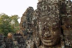 Das große Bayon-temle in Kambodscha Lizenzfreie Stockfotos