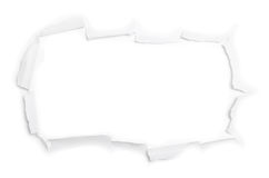 Das große Blatt des heftigen Papiers (getrennt) Stockbilder