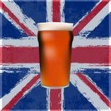 Das große britische Pint Stockbild