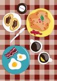 Das große Frühstück Stockbild