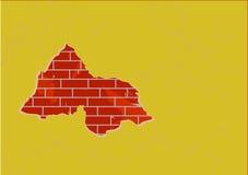 Das große Loch in einer Wand Lizenzfreie Abbildung