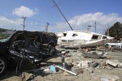 Das große Ostjapan-Erdbeben Stockbild