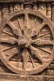 Das große Rad von Tempel Konark Sun Lizenzfreie Stockfotos