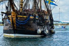 Das große Segelschiff Ost-Indiaman Stockfoto