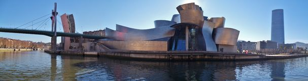 Das Guggenheim-Museum in Bilbao Spanien stockfotos