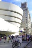 Das Guggenheim-Museum in der oberen Ostseite von Manhattan lizenzfreies stockbild