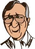 Das gute Gesicht des alten Mannes Lizenzfreies Stockfoto