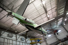 Das Hängen planiert im Flug Museum Dallas lizenzfreie stockbilder