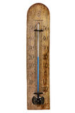 Das hölzerne Barometer der Weinlese Lizenzfreies Stockfoto