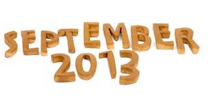 Das September 2013 Stockfotografie