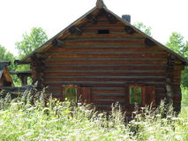 Das hölzerne Haus lizenzfreies stockbild