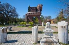 Das hölzerne Pferd von Troy, die Türkei Stockbild