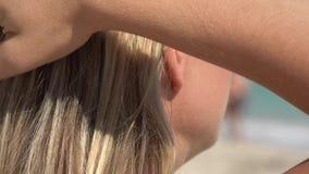 Das Haar der Frau, Frisur stock footage