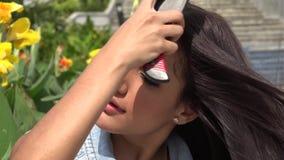 Das Haar der Frau, Frisur stock video