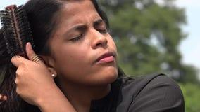Das Haar der Frau, Frisur stock video footage