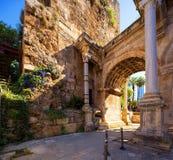 Das Hadrian-` s Tor in Antalya, die Türkei stockbilder