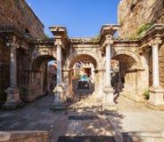 Das Hadrian-` s Tor in Antalya, die Türkei lizenzfreie stockfotos