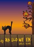 Das Halloween-Plakat Stockbild