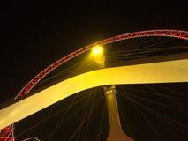 Das Handelsgebäude und das Ferris von Tianjin-Auge Reise herein Lizenzfreies Stockbild