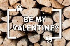 Das Handschriftstextschreiben ist mein Valentinsgruß Konzeptbedeutung Antrag, zum auf roanalysistic Gefühle eines Datums am 14. F stockfotos