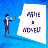 Das Handschriftstextschreiben schreiben einen Roman Konzeptbedeutung ist kreativ, etwas Literaturerfindung schreibend, einem Auto lizenzfreie abbildung