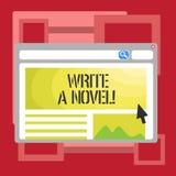 Das Handschriftstextschreiben schreiben einen Roman Konzeptbedeutung ist kreativ, etwas Literaturerfindung schreibend, einem Auto vektor abbildung