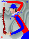 Das harlequinn Lizenzfreies Stockbild