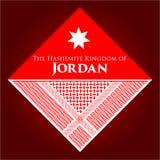 Das Haschemit Königreich von Jordan Vector-Fahne stockfotos