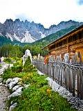 Das Haunold Baranci und die Dolomit Stockbilder