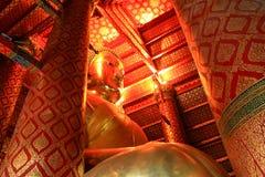 Das Haupt-Buddha-Bild, Wat Phanan Choeng Lizenzfreies Stockfoto