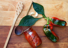 Das Haupteinmachen Peppers ruhige Lebensdauer Lizenzfreies Stockfoto