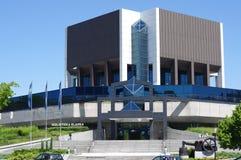 Das Hauptgebäude der schlesischen Bibliothek in Katowice Lizenzfreie Stockbilder
