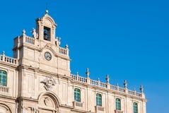 Das Hauptgebäude der Universität von Catania Lizenzfreie Stockfotos