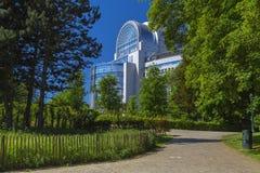 Das Hauptgebäude des Europäischen Parlaments lizenzfreie stockfotografie