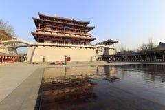 Das Hauptgebäude von datang furong Garten, luftgetrockneter Ziegelstein rgb Lizenzfreies Stockbild